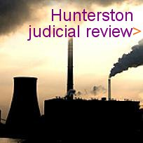 Button with hunterston powerstation saying judicial review